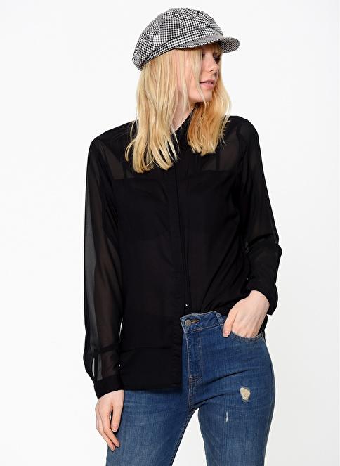 Vero Moda Şifon Gömlek Siyah